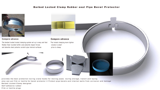 Locked Clamp Rubber seal Pipe Bevel Protector
